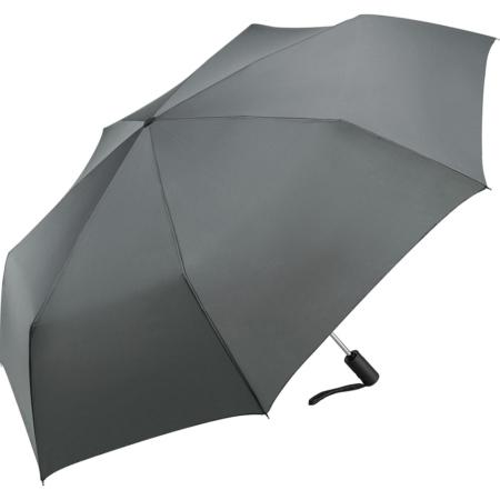 grauer Regenschirm mit Handschlaufe