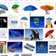Regenschirme sind das Symbol für die Euro Rettung