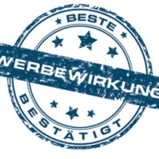 """Siegel """"beste Werbewirkung"""" für Regenschirme"""