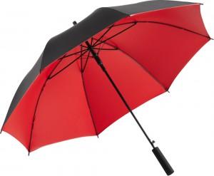der Regenschirm Doubleface 1159 in der Farbkombination schwarz-rot