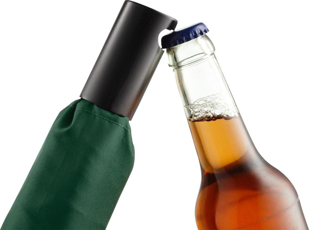 flaschengrüner Schirm mit Kapselheber