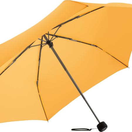 Taschenschirm mit hell-orangefarbenem Bezug