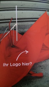 Abbildung aus Senz Broschür: zerstörter Schirm