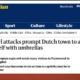 Screenshot Guardian mit Artikel über Uhu-Attacken, die mit Regenschirmen abgewehrt werden