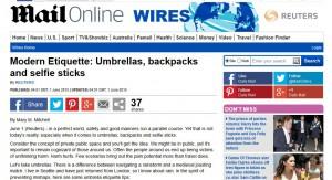 Etikette und Regenschirme