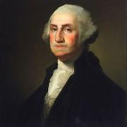ohne Regenschirm porträtiert: George Washington