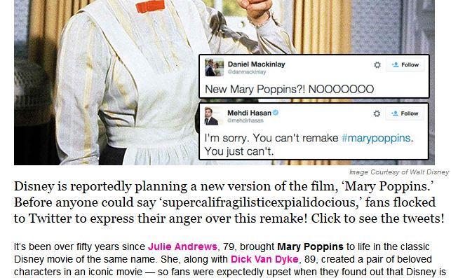 Remake von Mary Poppins geplant?