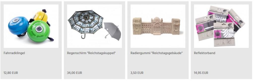 Regenschirm des Bundestags mit Allover-Print der Reichstagskuppel