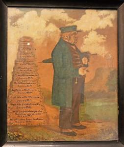 Cornelius de Greiff mit Regenschirm