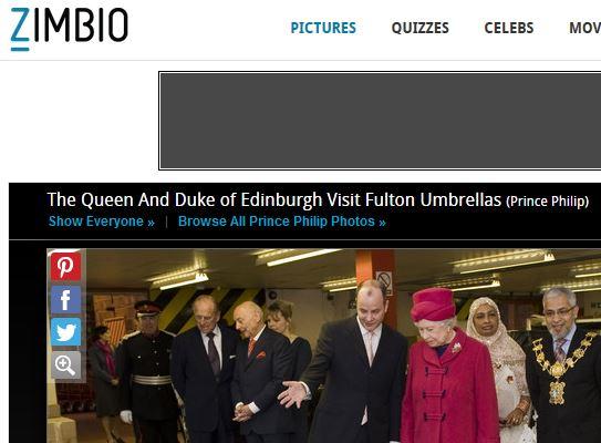 Screenshot Regenschirme von Fulton sind die Schirme der Queen