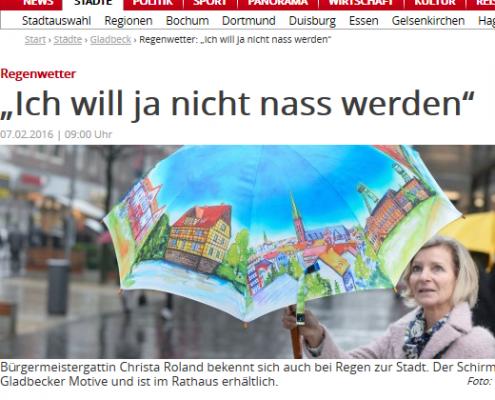 Gladbeck und seine Regenschirme