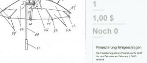 gescheitertes Funding Regenschirm