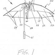 Skizze eines Taschenschirms