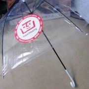 transparenter Regenschirm mit japanischer Werbeanbringung