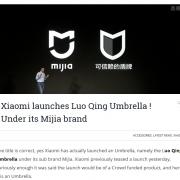 Regenschirme vom Riesenkonzern Xiaomi