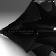 Detailaufnahme eines neuen, auf Kickstarter finanzierten Regenschirms