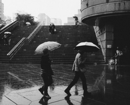Ein Sommer voller Regenschirme