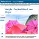 bunte Regenschirme in einem Bericht über die Fa. Doppler