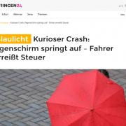 automatisch öffnende Regenschirme als Unfallursache Screenshot