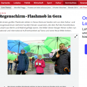 Regenschirme Flashmob in Gera