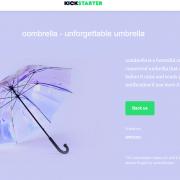 Screenshot von Oombrella Regenschirme auf Kickstarter