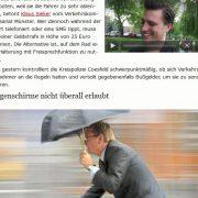 Regenschirme für Fahrradfahrer erlaubt