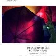 Regenschirme in der Berliner Willner-Brauerei