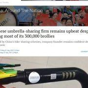 Ein chinesisches Start-up vermisst seine Leih-Regenschirme