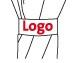 Icon Logosiebdruck auf Schliessband eines Regenschirms
