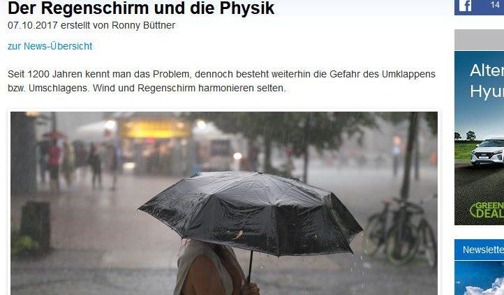 Regenschirme und der Bernoulli-Effekt