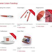 Regenschirme im Fanshop