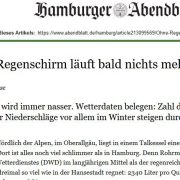 Screenshot Hamburger Abendblatt: Ohne Regenschirm