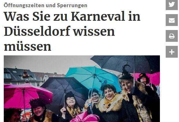 Karneval und Regenschirme