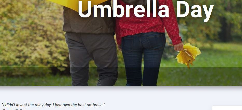 Tag des Regenschirme