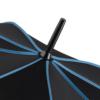 schwarzer Bezug mit blauen Keilnahtpaspeln