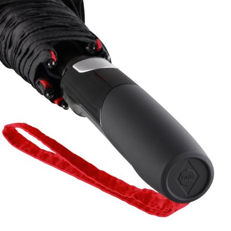 Griff eines Regenschirms mit integrierter Auslösetaste