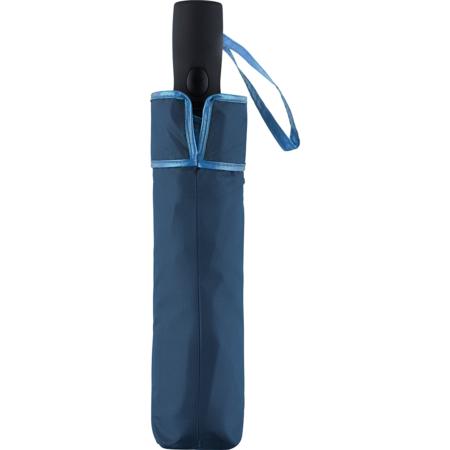 Taschenschirm-Futteral in der Farbkombination marine/hellblau