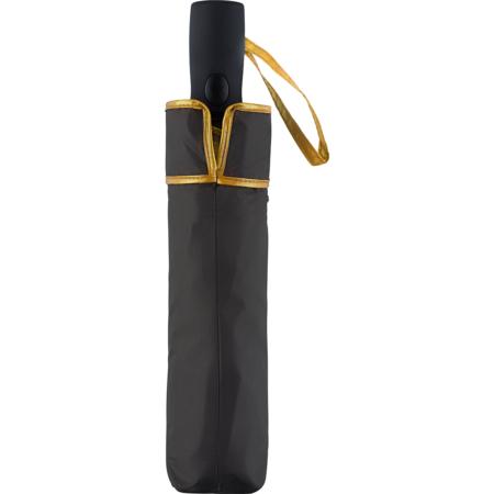 Schirm-Futteral in der Farbkombination schwarz/gold