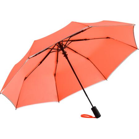 auffälliger Taschenschirm in der Farbe neon-orange