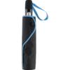 Taschenschirm im Futteral mit blauer Griffschlaufe