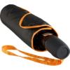 Taschenschirm mit orange-farbenen Keilnahtpaspeln