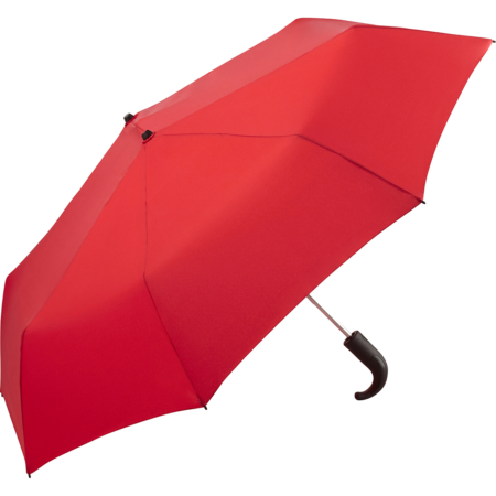 besonders großer Taschenschirm mit rotem Bezugstoff