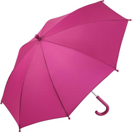 Kinder Regenschirm mit Bezugstoff magenta