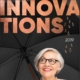 Titelseite der Broschüre Innovations 2019 mit neuen Regenschirmen von regenschirme.com