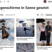 Pinterest Screenshot Regenschirme