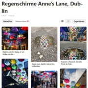 Regenschirme in Dublins Anne's Lane Screenshot
