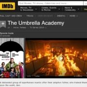 Screenshot Umbrella Academy mit schwarzem Regenschirm