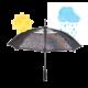 Colormagic Druck auf einem Regenschirm