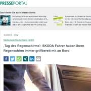 Regenschirme als clevere Ausstattung in Skoda PKW
