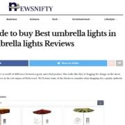 Lichtkranz für Regenschirme